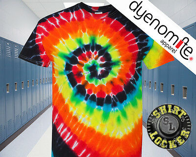 2d7998d73fae CHEAP Dyenomite Multi-Color Spiral Short Sleeve Tie Dye T Shirt Illusion -  200MS