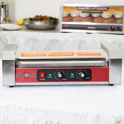 Stainless Steel Concession Stand 12 Hot Dog Electric Roller Grill with 5 Rollers