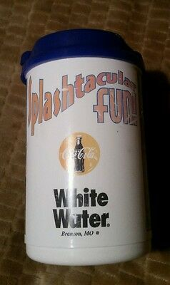 WHITE WATER BRANSON, MO refillable Soft Drink Mug Cup REFILL Silver Dollar City