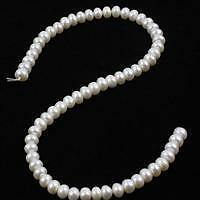 FP41.  NLGP79_1  White Freshwater Cultured Pearl Rondelles Approx 8x6mm