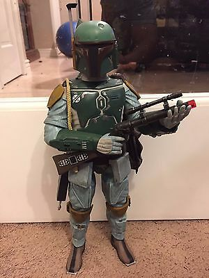"Disney 13.5"" Star Wars talking Boba Fett loose with lights and sounds"