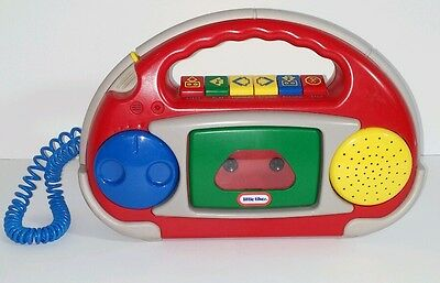 Little Tikes Cassette Player Tape Recorder With Microphone Rare