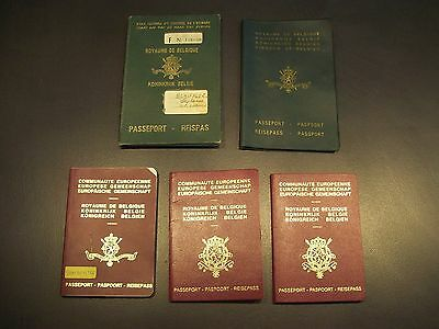 Lot of 5 vintage Belgian travel documents (see pictures)