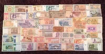Lot Of 50 X World Banknotes. Mix Of Old And New Notes. All Different,
