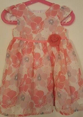 Baby girls Jasper Conran pink floral party dress. Age 12-18 months. Excel cond.