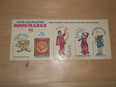 Burger King Paper Bookmarks dated 1979