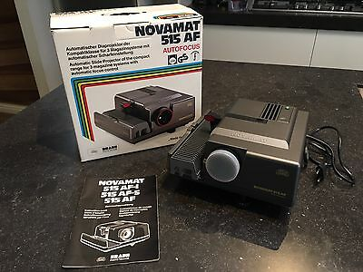 Vintage Braun slide Projector Novamat 515 AF in mint condition!