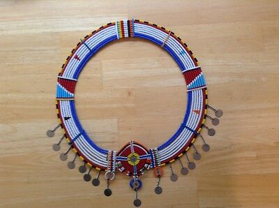 African-Arena Handmade Colorful Beads Ethnic Tribal Round Necklace AA3-24