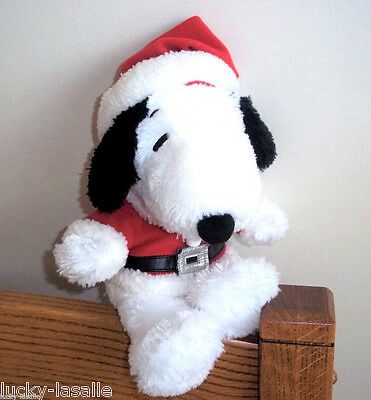 "HALLMARK SNOOPY Plush In Santa Outfit PEANUTS GANG 11"" Head To Toe Shaggy"