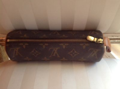 Authentic Nice Louis Vuitton Trousse Ronde Round Cosmetic Pen Case Toiletry Bag