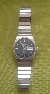 Rare Blue Vintage Seiko Lm Lordmatic Automatic 23 Jewels Mens Watch