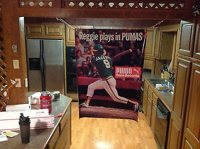 Huge! 46x32apxx REGGIE JACKSON Vinyl Banner Poster OAKLAND A'S NY yankees. babe.