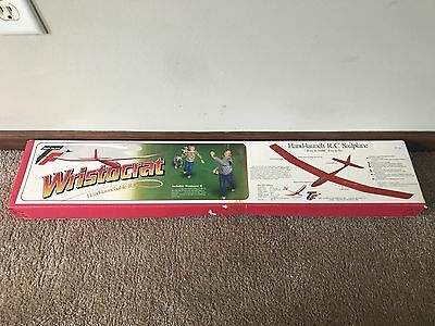 Brand New in Box Vintage Top Flite Wristocrat Hand-Launchable RC Sailplane Kit!!