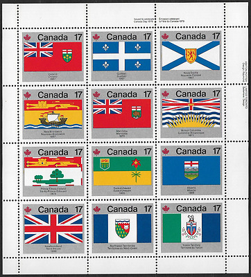 Canada - Pane of 12 UURR - Provincial & Territorial Flags #832a (821@832) - MNH