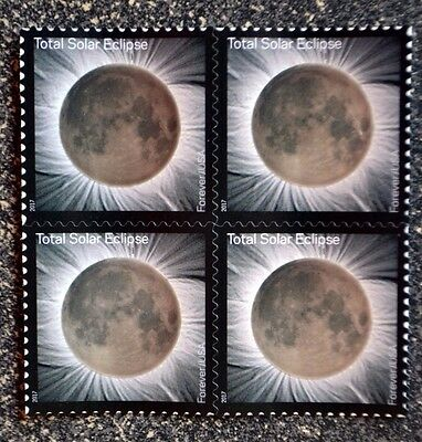 2017USA #5211 Forever Total Eclipse of the Sun - Block of 4 Postage Stamps Mint