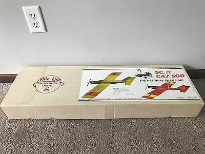 Brand New in Box Vintage Flite Line Scat Cat 500 Pylon Racer RC Airplane Kit!!!