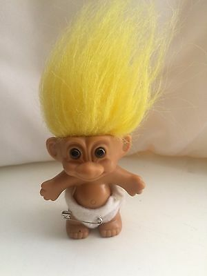 "A Rare Collectable 2"" Baby Russ Troll Vintage Toy."