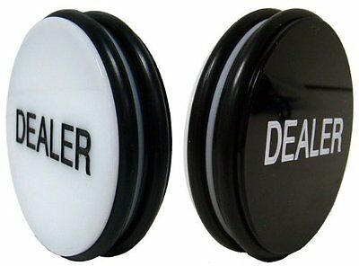 Brybelly Double-Sided Casino Grade Poker Dealer Button Puck - Large 3 Inch Diame