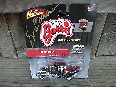 George Barris Kustoms Signed Autographed in Gold Munsters Koach Coach Hot Rod