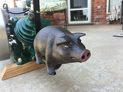 """""""Maytag Smoked Bacon"""" 92,hit & miss Gas Engine PIG Exhaust  Muffler Engine show"""