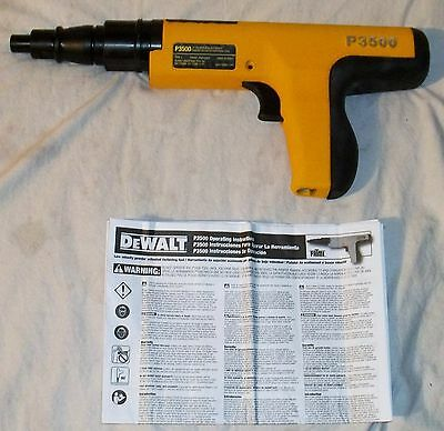 DEWALT P3500 LOW VELOCITY POWDER ACTUATED FASTENING TOOL-Retail $200
