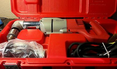 milwaukee right angle drill 1/2inch with case