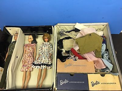 1960's Barbie Lot,Barbies, Ken,  1 Vtg. Case 1962 , Many Outfits, Shoes,etc