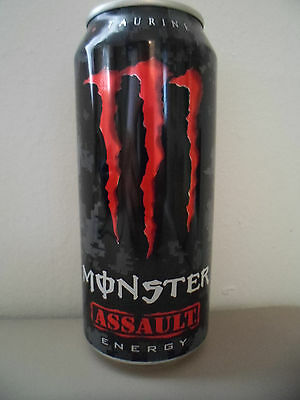 Monster Energy Assault Collectible 16oz. Drink Can New Rare Advertising Design