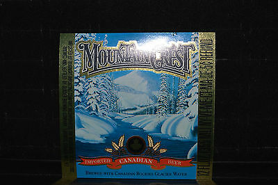 Beer label Mountain Crest Canadian Beer