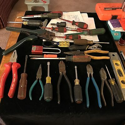 Mixed Lot of Fine USED Electrician Tools