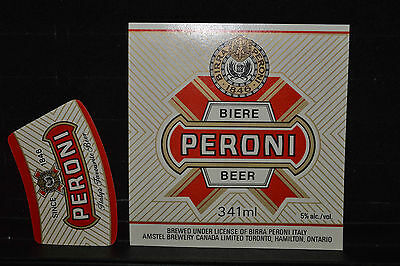 Beer label Amstel Peroni Beer with Neck Label Canada