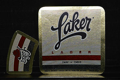 Beer label Amstel Laker Lager with Neck Label