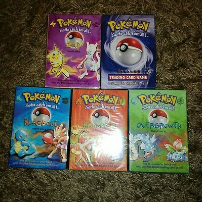 Pokemon Base Set, COMPLETE THEME DECKS,  OVERGROWTH, BRUSHFIRE, ZAP, ETC, SEALED