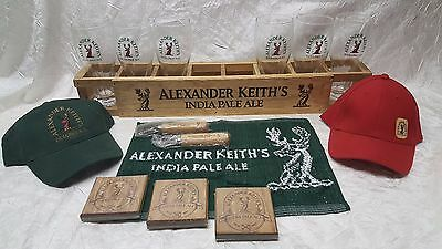 Alexander Keith's GIFT PACK - Glasses - Hats - Coasters + MORE - MAN CAVE BAR