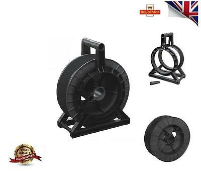 Complete Black Reel / Spool Stand Electric Fence Fencing Wire Tape - Uk