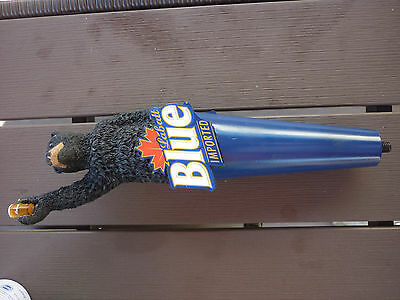 Labatt Blue Black Bear Drinking Beer - Beer Tap Handle - New In Box - Super Rare