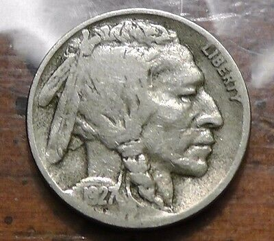 1927-D 5C Buffalo Nickel - Better date coin - VF condition!!
