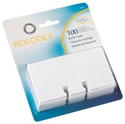 Rolodex Rotary File Card Refills, Unruled, 2-1/4 Inches Inchesx 4 Inches, 100 Ca