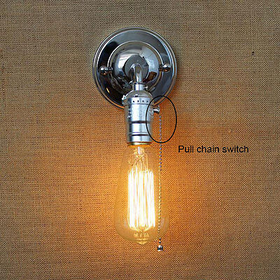 Pull chain switch wall scones vintage bedside stairs wall lights home lighting