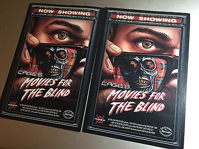 RARE Cage - Movies For The Blind Promo Sticker And Card
