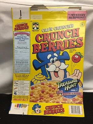 1992 Captain Crunch Crunch Berries Treasure Hunt 2 Cereal Box
