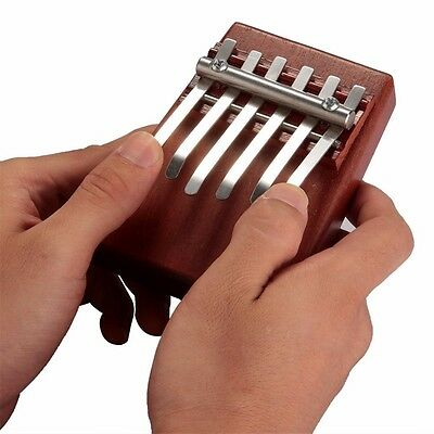 6 Key Finger Piano Mbira Kalimba Thumb Piano Mahogany Idea Fun Gift Traditional