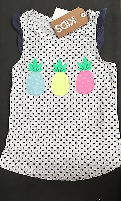 NEW Cotton On Kids Girls Singlet Top T-shirt Short Sleeve Size 5 Years RRP$12.95