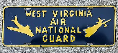 1950s RARE West Virginia AIR NATIONAL GUARD Embossed Booster License Plate
