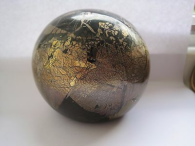 Michael Harris England Signed Glass Paperweight