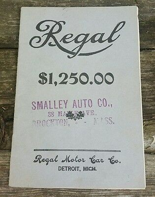 Regal Motor Car Co. Catalog 1909 Smalley Auto Brockton Mass illustrated