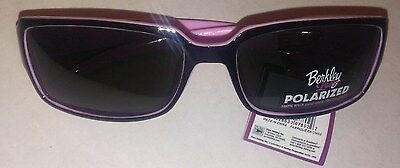 5f17f3c82ca89 Berkley Ladies Polarized Sunglasses pink black frame Smoke lense 100% UVA    UVB