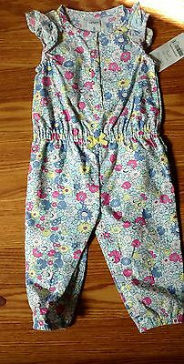 Girls Carter's floral one piece outfit size 6 mo NWT's