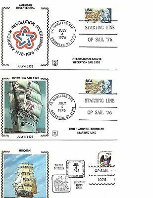 Operation Sail 1976/83 Different Covers