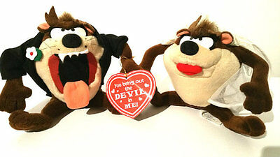 TAZ and Wife Wedding Plush You Bring Out the Devil In Me APPLAUSE 1994 Looney